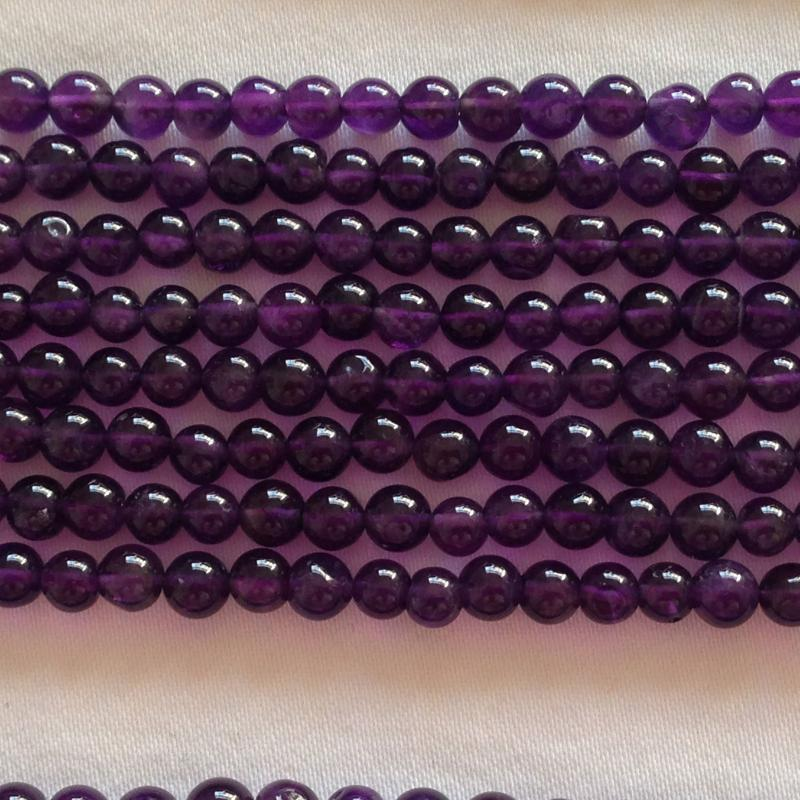 Ali Rand Mexico Distrito Federal Beads Strand Purple Saucer