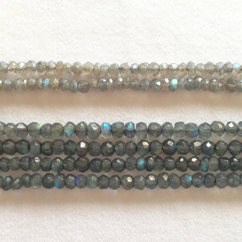 Ali Rand Mexico Distrito Federal Beads Strand Gray Round Go-Go Tumbled