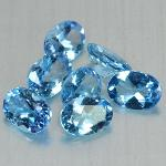 Gemville   BLISSFUL COLOR 7 PIECES SKYBLUE TOPAZ NATURAL 7X5MM 4.93 CTS LOOSE GEMSTONES
