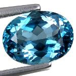 Gemville   Excellent    Natural 0.60 cts London Blue Topaz Oval 6x4mm Loose Gemstones