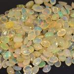 Gemville Thailand Bangkok Stunning 60 cts Natural Ethiopian Multi Color White Opal Lot Loose Gemstones