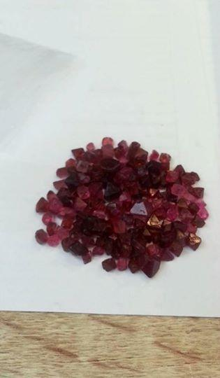 Gemville Thailand Bangkok Sexy Red 50 cts Natural Red Spinel Rough Loose Gemstones from Burma