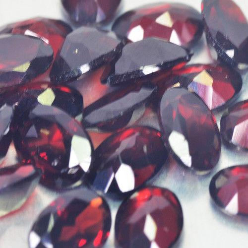 Gemville   BEAUTIFUL NATURAL RED GARNET OVAL 1500 CTS 9 X 7 MM LOT LOOSE GEMSTONES