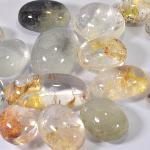 Gemville   BEAUTIFUL 6500 CTS NATURAL RUTILATED QUARTZ MIXED LOT CABOCHON LOOSE GEMSTONES