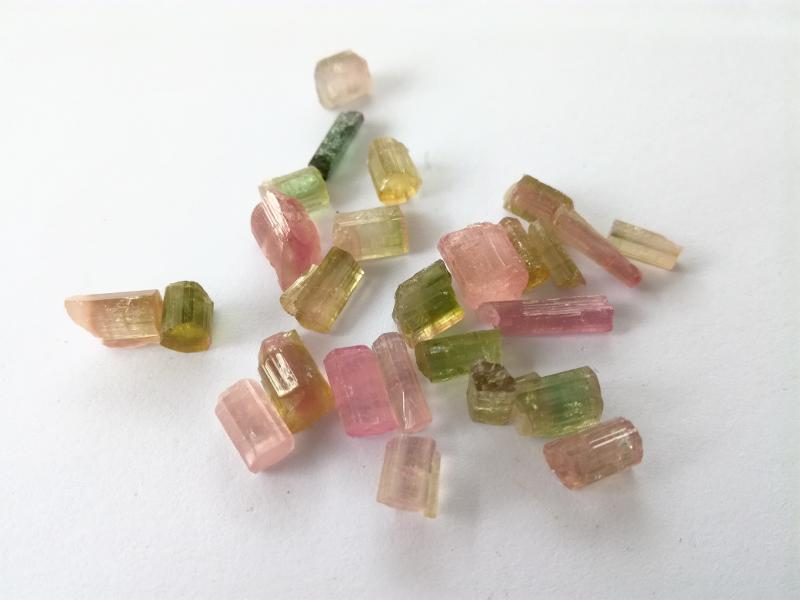 Nsm Slovenia Osrednjeslovenska Gemstones Tourmaline Bi-Color Lot Very, very slight inclusions