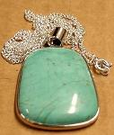 Earth Treasures USA Massachusetts 37 Mm Long 22 Mm Wide Turquoise Pendant