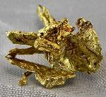 Earth Treasures USA Massachusetts 1.5 grams of crystallized gold nugget from The Round Mountain Gold Mine Nevada USA