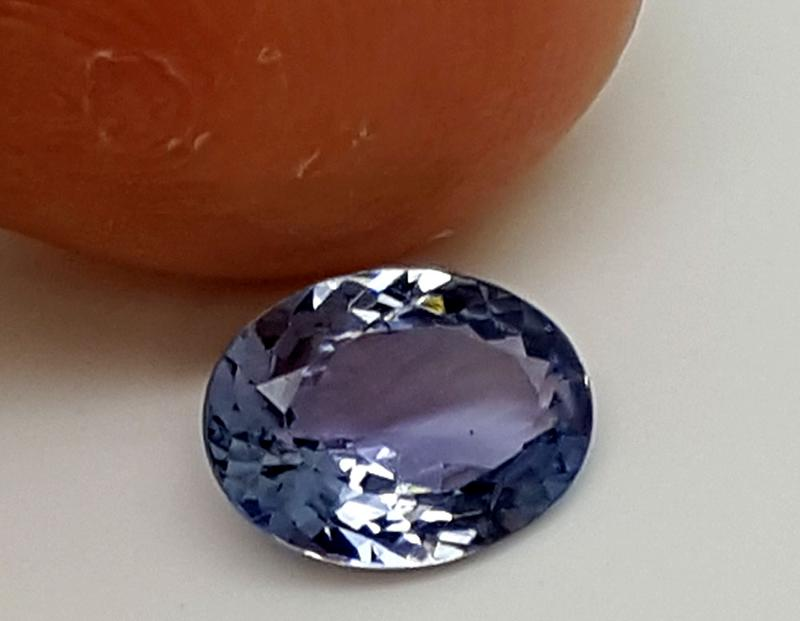 Ajwa's Gems Pakistan Khyber Pakhtunkhwa Gemstones Tanzanite Blue Oval Faceted Single Very slight inclusions Heat