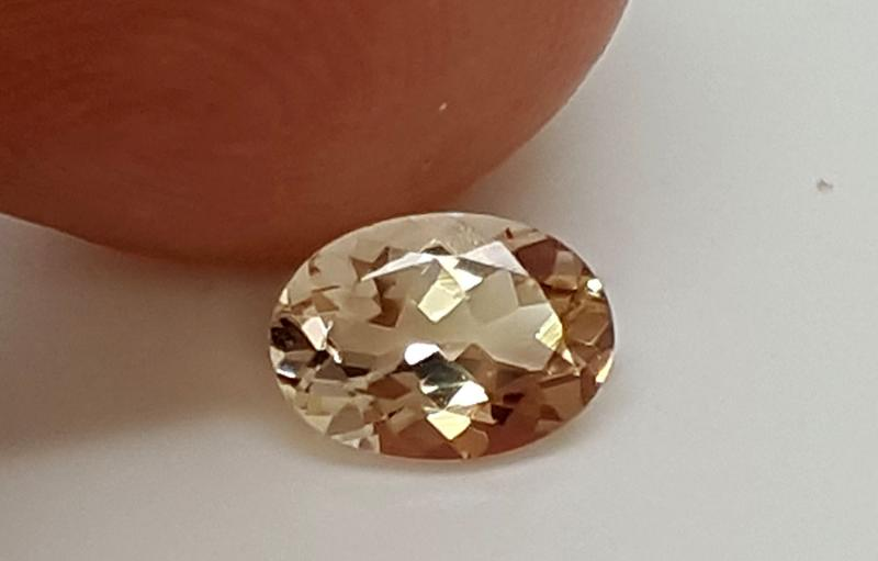 Ajwa's Gems Pakistan Khyber Pakhtunkhwa Gemstones Morganite  Oval Faceted Single Very slight inclusions