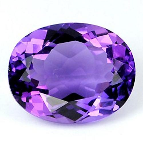 Jpg Gems & Jewellers India Delhi Gemstones Amethyst Purple Oval Faceted Single Transparent