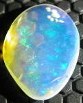 Desert Fox Minerals USA California Gemstones Opal Colorless  Cabochon Single Translucent