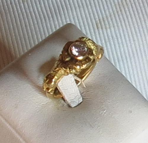 Luanap Italia Roma Ring gold 18 Kt whit diamond 0,4 Kt H color hand made