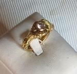 Luanap Italie Roma Ring gold 18 Kt whit diamond 0,4 Kt H color hand made