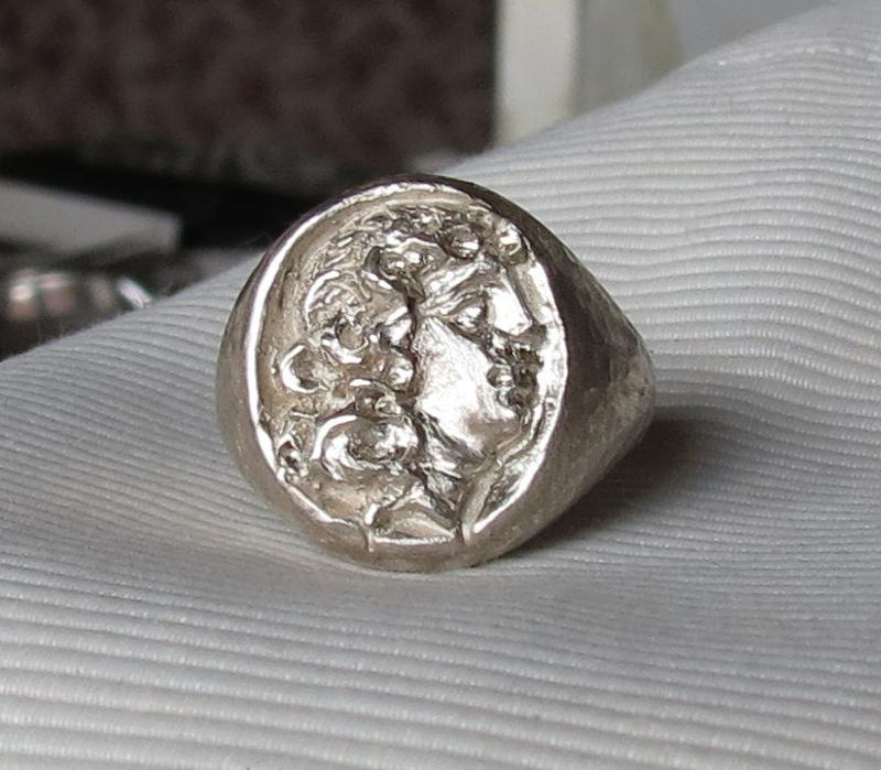 Luanap Italy Roma Hand made ring silver 925 whit Mitritade heads