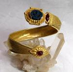 Luanap Italie Roma Hand made bracelet gold 18 Kt, 57 gr, , whit  NATURAL UNTRATED Ruby Burnma 4 ct