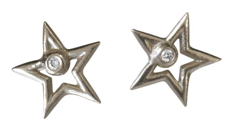Jane A Gordon Jewelry Estados Unidos New York Star Stud Earrings-open-Sterling with plate options
