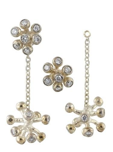 Jane A Gordon Jewelry USA New York Fireworks-Starburst earrings-Sterling with plate options