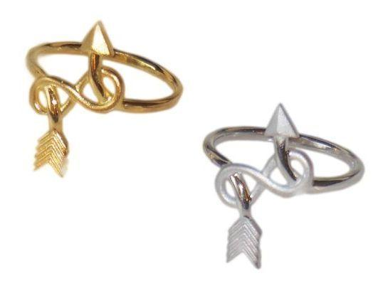Jane A Gordon Jewelry Estados Unidos New York Arrow & Infinity Ring -18K gold