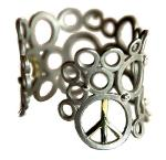 Jane A Gordon Jewelry USA New York Peace To The World- cuff bracelet