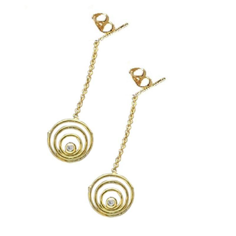 Jane A Gordon Jewelry USA New York Karma Drop Earrings-Sterling silver and diamonds