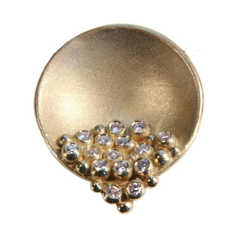 Jane A Gordon Jewelry USA New York Bowl of Diamonds Necklace or pearl enhancer-large-14K gold