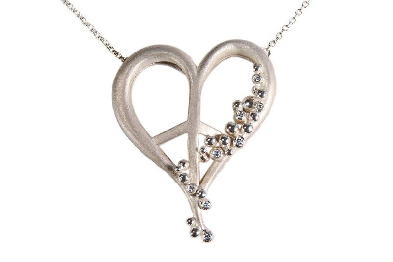 Jane A Gordon Jewelry USA New York Peace of Heart necklace-large-Sterling with plate options