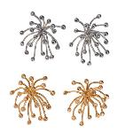 Jane A Gordon Jewelry USA New York Fireworks- Superstar earrings-Sterling Silver with diamonds and plate options
