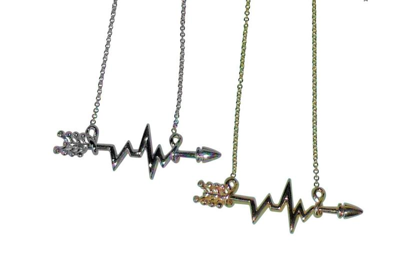 Jane A Gordon Jewelry États-Unis New York Heartbeat Arrow with Infinity links- Necklace- 14K gold