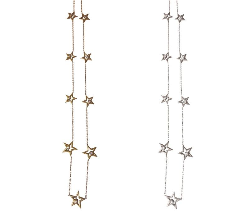 Jane A Gordon Jewelry Estados Unidos New York Stars-Chain of Stars Necklace-Sterling with plate options