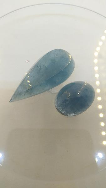 Estrusemerald Estonia Ida-Virumaa Aquamarine cabochone set